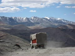 Insuperable barrier of Nature - Lonely truck in the Himalaya