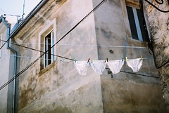 Laundry (joafa) Tags: colour architecture analog iso100 europe village pants croatia laundry praktica washing istria mtl3 vodnjan joafa