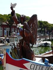 Wooden Angel (RvdB60) Tags: italy veneto caorle