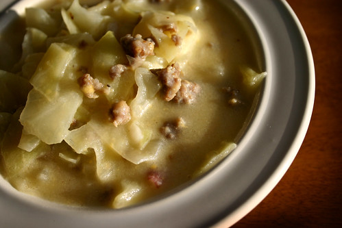 Sausage, Potato, & Cabbage Soup