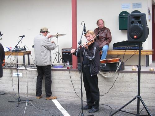 A Band preparing