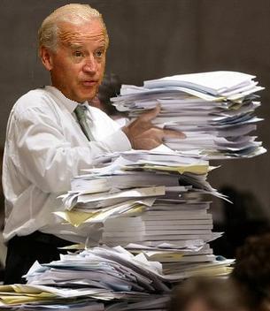 Biden delivering manuscript