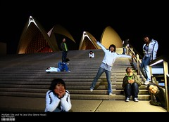 Multiple Sita and Ye (and One Opera House) (Kyaw Photography) Tags: house photoshop canon eos opera long exposure mask cs2 tripod sydney layer multiple ye sita 8seconds 450d