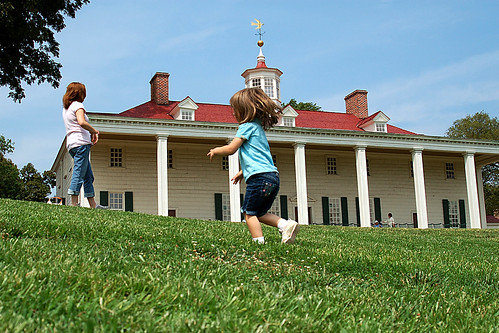 Playing in George Washington's backyard.