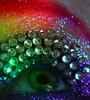 Rainbows (wisely-chosen) Tags: selfportrait macro eye rainbow colorful makeup august 2008 rhinestones picnik falseeyelashes manicpanichothotpink mineralglowshimmeryglitterg14purplepassion mineralglowshimmeryglitterg9lavender jessesgirlkohleyelinergrapeexpectations