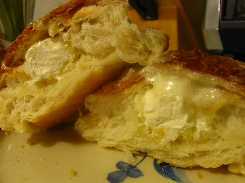 Inside Coconut Buttercream Bun
