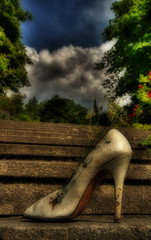 Heel (pinkcigarette) Tags: show fashion composition photoshop highheel blisters liechtenstein hdr orton sore photomatix hdrcreativeshots