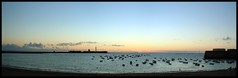 Panormica - Caleta (Canoso.) Tags: blue sunset panorama beach azul atardecer tramonto blu playa panoramic bleu greatshot blau blume cdiz plage spiaggia panoramique panormica panormica fiatlux canoso kartpostal panoramisch praiastrand