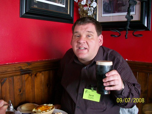 Ireland - Ring of Kerry Tour  - Scarriff Inn - Me enjoying a Guiness