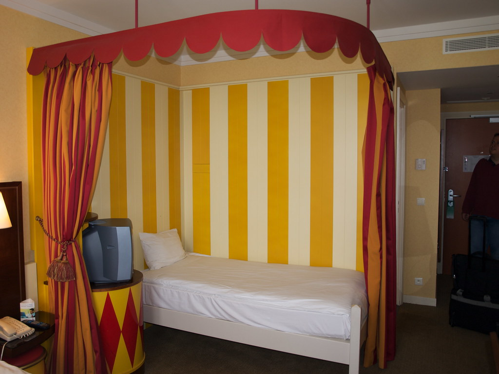 Our circus themed hotel room