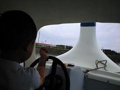 初!スワンボート:竜王アグリパークにて