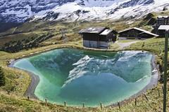 Kleine Scheidegg (Truus) Tags: water meer jungfrau vacantie kleine zwitserland scheidegg truus goldenglobe refelctie mywinners ultimateshot