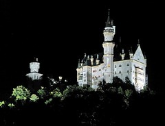 ebony and ivory (werner boehm *) Tags: nightshot neuschwanstein flickrestrellas wernerbhm