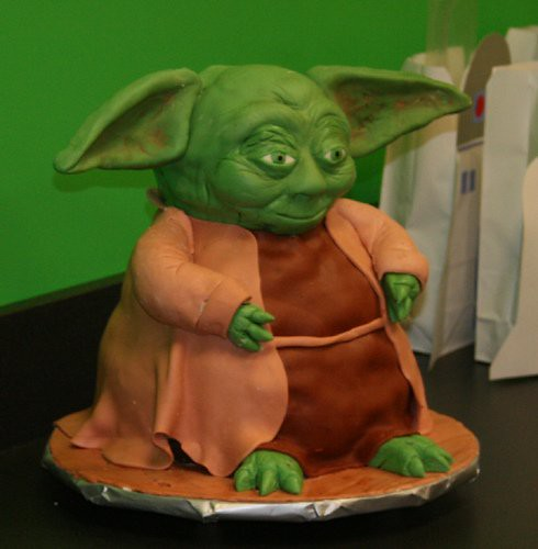 Star Wars Birthday Cake Yoda