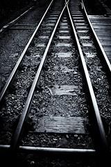 Rails (Sad Bishop) Tags: urban monochrome railway holgaesque 40d silverefex