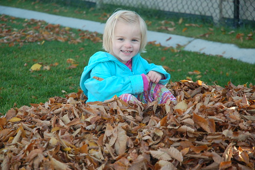 Hannah In The Leaves