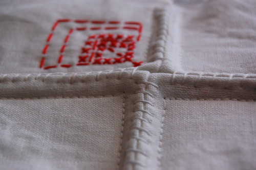 experiment in linen and thread