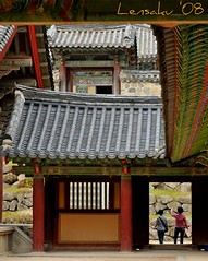 Buddhist Temple of Bulguksa (Lensaku) Tags: temple ancient korea ornaments buddhisttemple bulguksa culturalheritage placeofworship muralpainting historicbuildings woodenstructures buddhistfaith