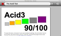 Acid3 Test on Fennec