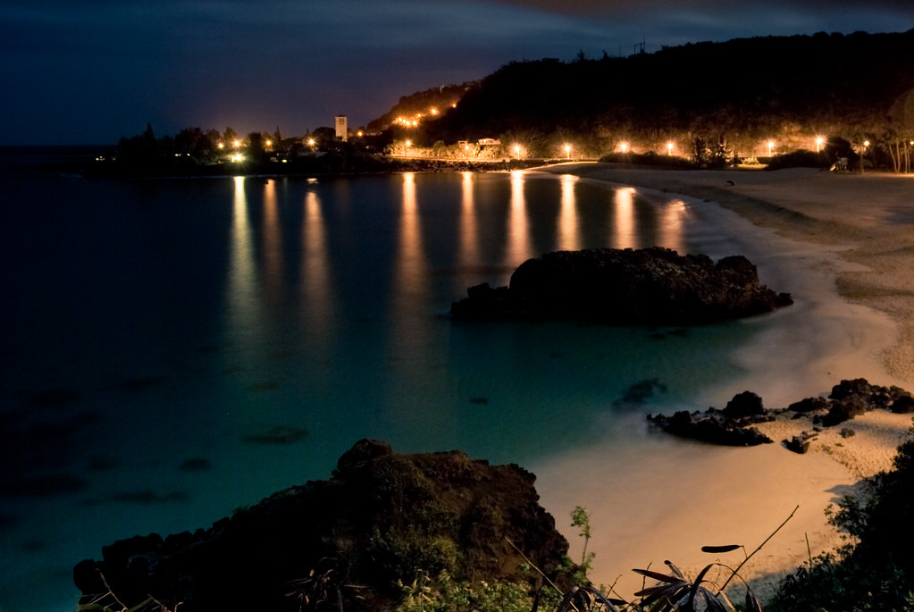 Waimea Bay at Night