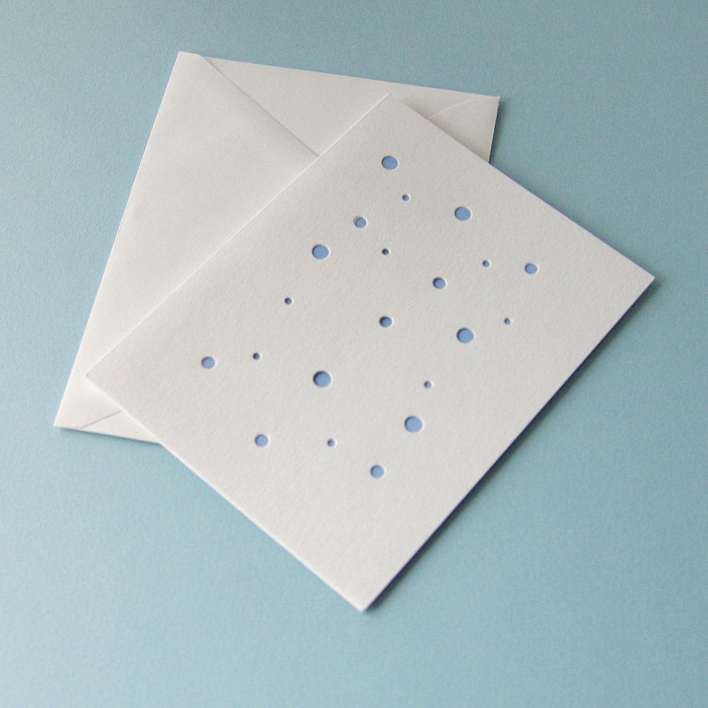 #21 Blue Blank Card