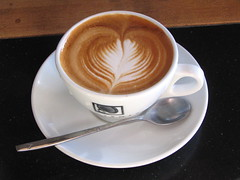 I love that I can get a cappuccino like this only 5 minutes walk from home! Photo by Wendi.