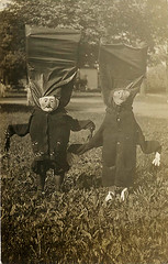 oddball costumes (carbonated) Tags: bw halloween vintage photographs