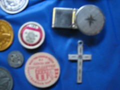 old collectibles for men 2 (myflicker2009) Tags: money metal hammer vintage wooden cross small spoon clip scissors disk kit token tokens coaster tool toolkit folding wrench razor screwdriver moneyclip foldingscissors