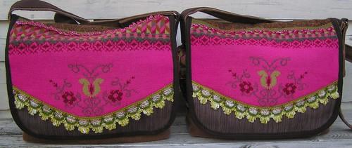Pink winter, mesesenger bags