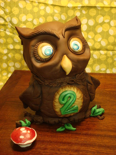 Owl Cake for 2 year old birthday