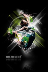 clear mind (Wilson Cáceres ®) Tags: light woman green photoshop photo jump colombia graphic wilson deviantart diseño grafico udi caceres udiseño