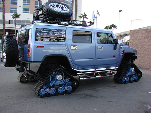 Blue Hummer w/ Tank Treads