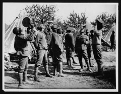 West Indian regiment in their camp, France, during World War I