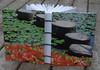 Lily pads and stepping stumps - journal (MyHandboundBooks) Tags: green recycled journal bookbinding handbound myhandboundbooks