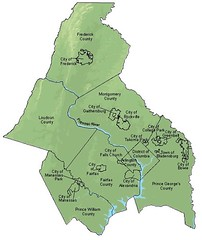 metro Washington comprises DC, 2 states, 7 counties, & 13 independent cities & towns (by: Metro Wash COG)