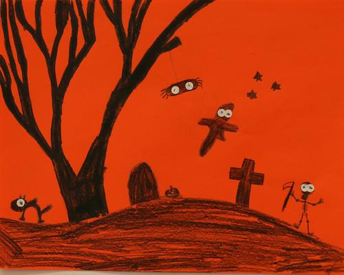 Chris's spooky silhouette
