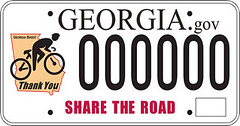 Georgia Share the Road license plate