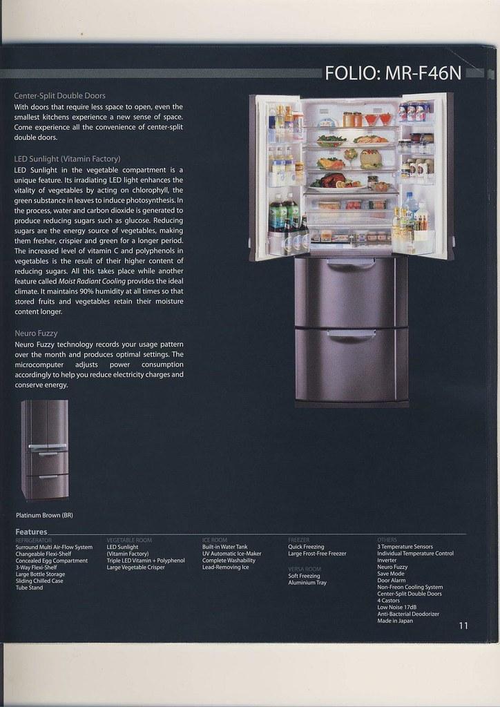 MITSUBISHI Refrigerator MR-F46 (2 Door) BRAND NEW!!