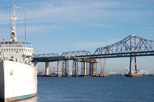Chaleur and Bay Bridge(s) by Telstar Logistics, on Flickr