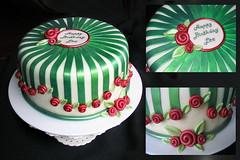 Whimsical Rose (macesicnada) Tags: red green rose cake stripes ribbon