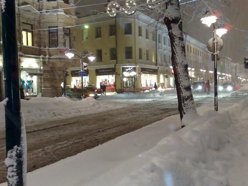 Nieve en Helsinki