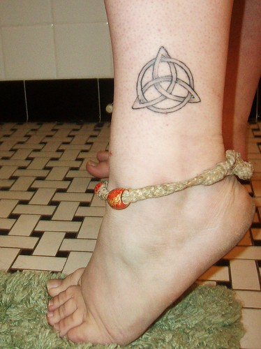 Celtic triquetra knot tattoo