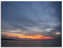 Bali Sunset (Such is lyfe) Tags: travel sunset sea sky bali beach nature clouds canon indonesia powershot jimbaran s5is