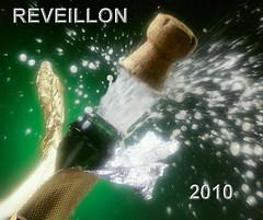 estouro de champanhe final de ano