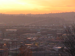 SODO at sunset. Photo by Wendi.