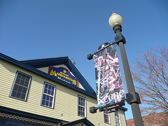 Winter banner in front of Margarita's