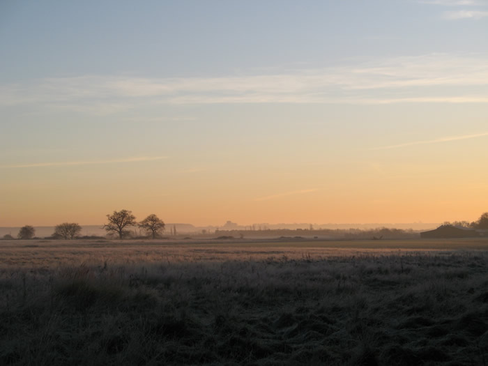 Dawn at Sandy, Bedfordshire