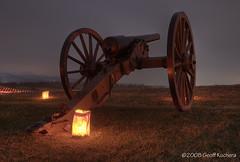 Illuminated Cannon (gkuchera) Tags: nikon illumination civilwar cannon antietam hdr highdynamicrange d300 photomatix 5xp gdkuchera