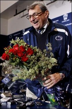 Joe-Pa with roses