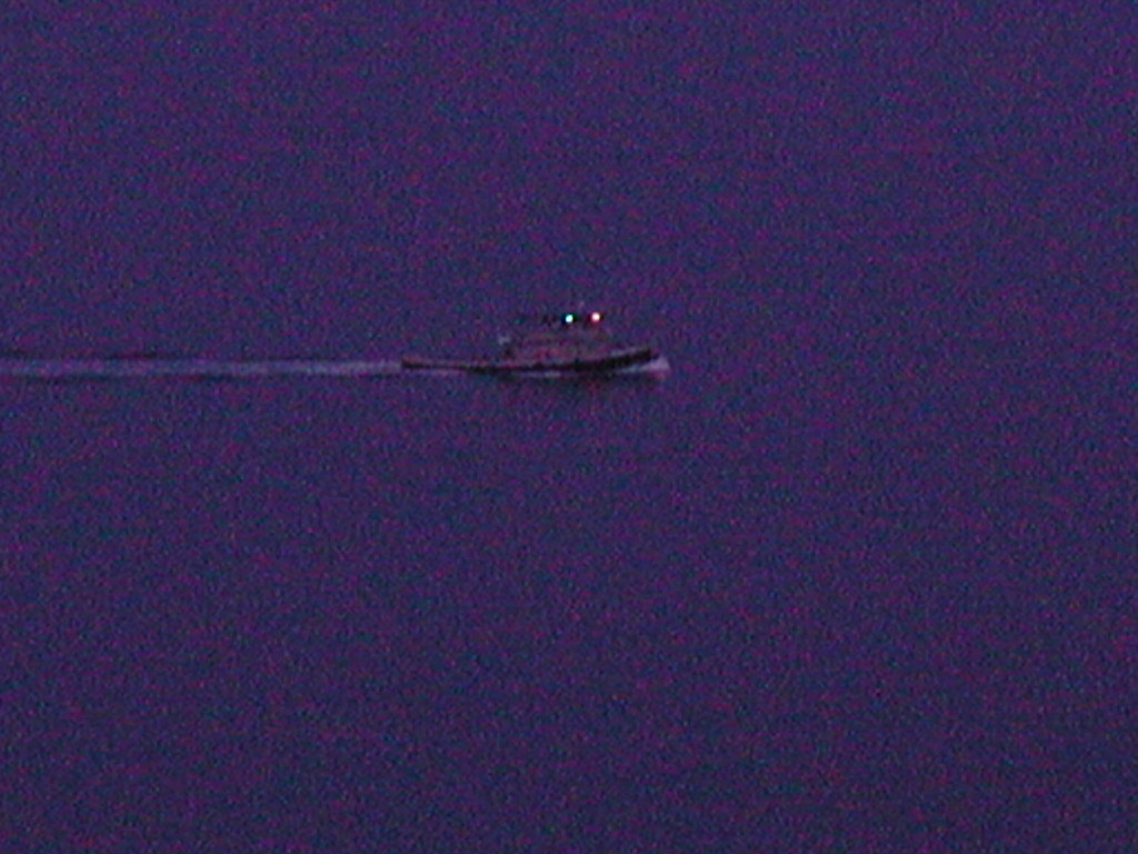 Moonsetting Over Whidbey Tugboat